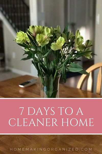 7 Days to a Cleaner Home - Introduction - Homemaking Organized
