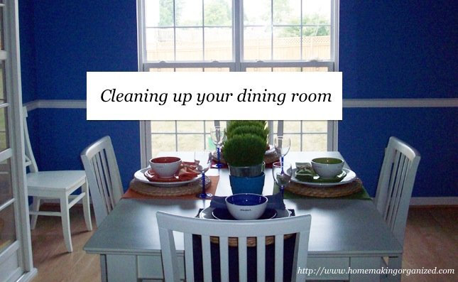 A Tidy Surface for the Day's Meals: Cleaning the Dining Room Table