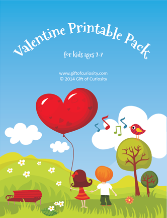 Free Valentine Printables Pack for ages 2-7