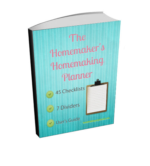 Homemaker's Homemaking Planner