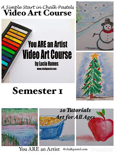 A Simple Start in Chalk Pastels Video Art Course (Semester 1)