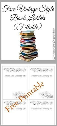 image about Free Printable Book Labels known as Totally free Printable Ebook Labels - Homemaking Well prepared
