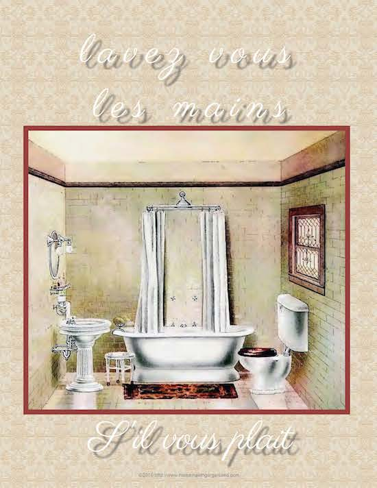 French Vintage Bathroom Signs French signs Etsy Fun sign for the