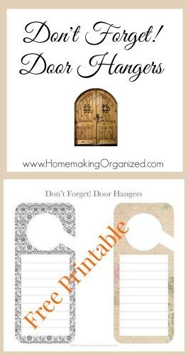 free-door-hangers-printable  sc 1 st  Homemaking Organized & Door Hanger Reminder Printable - Homemaking Organized