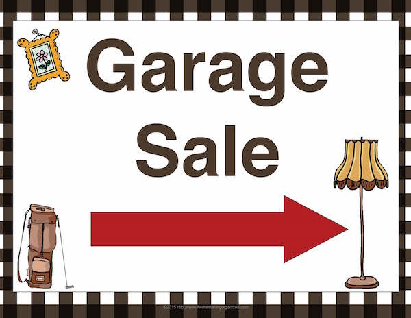 Simplicity image intended for printable garage sale signs