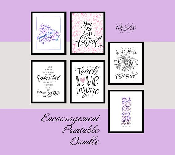 Encouraging Prints for your walls.