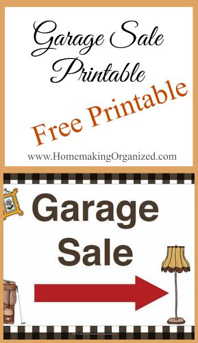 Free Printable Garage Sale Sign Homemaking Organized