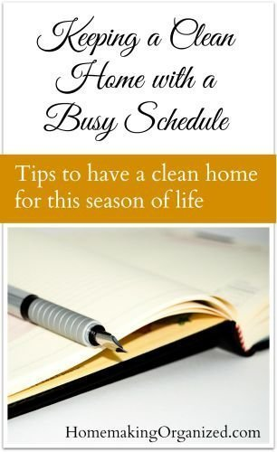 Keeping a Clean Home with a Busy Schedule