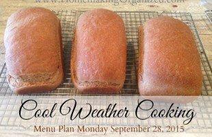 Monday Menu Plan September 28, 2015