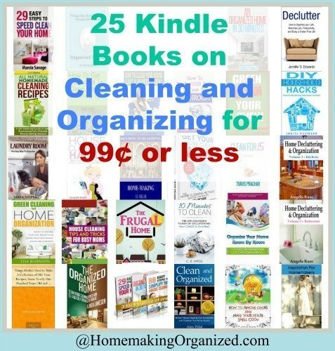 25 Cleaning and Organizing Kindle Books 99¢ or Less
