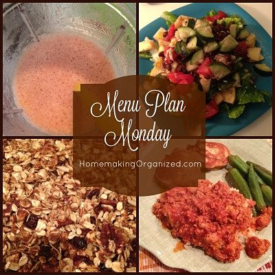 Monday Menu Plan Febuary 1, 2016