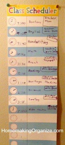 wall-class-schedule