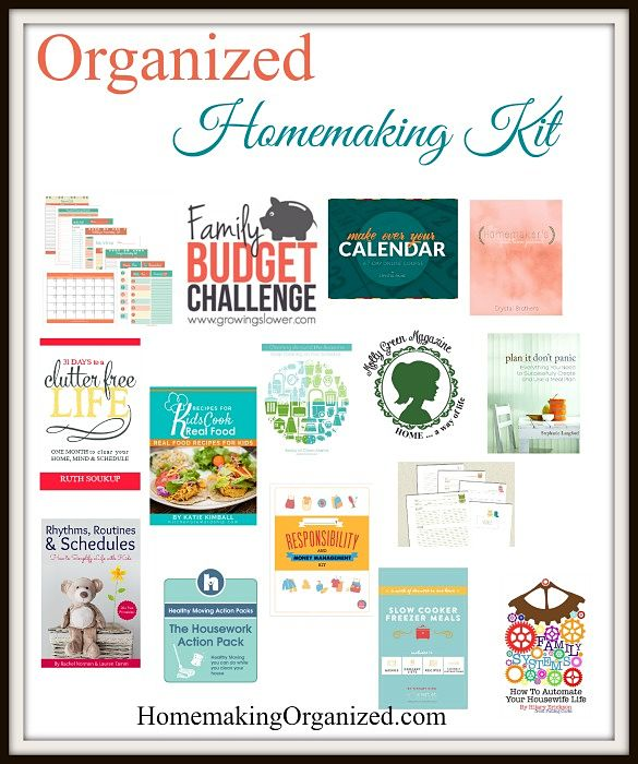 Put Together Your Organized Homemaking Kit