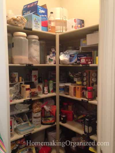 Cleaning and Reorganizing the Pantry