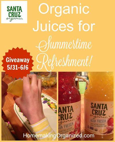 Santa Cruz Organic ® Agua Fresca Juices Review and Giveaway from #MomsMeet #KeepOnCruzin