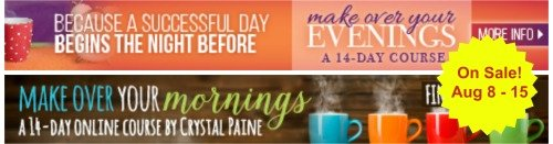 Make Over Your Mornings and Evenings for Back to School Sale