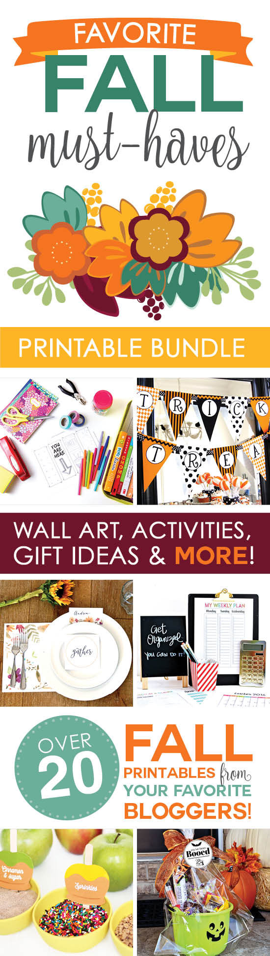 Your Favorite Fall Printables Bundle for 2016! 3 Days Only {OVER}