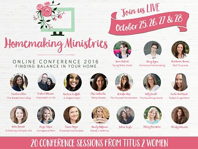 FLASH sale for the 2016 Homemaking Ministries Online Conference
