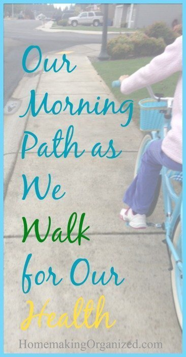 Our Morning Path as We Walk for Our Health {5 Minute Friday}