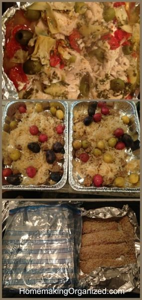 A couple of the meals I made from the MyFreezEasy Freezer Meal Planning Service