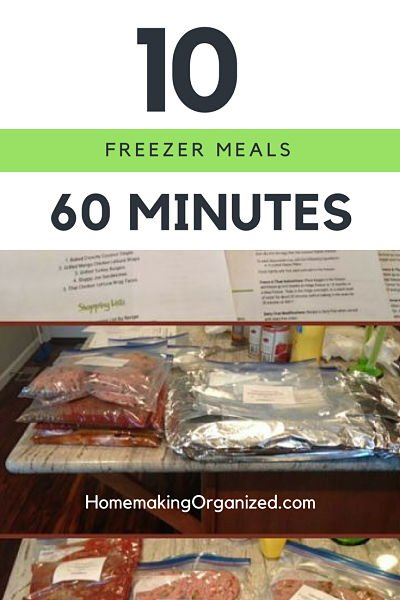 10 Meals in 60 minutes with  MyFreezEasy Freezer Meal Planning Service