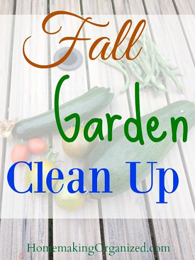Fall Garden Clean Up for 2016