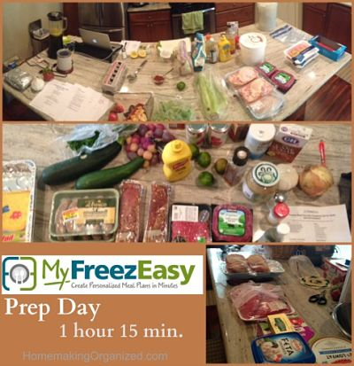 Pictures of my prep day with the MyFreezEasy Freezer Meal Planning Service