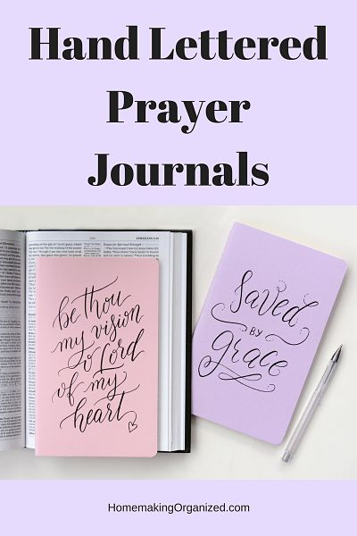 Hand Lettered Prayer Journals a Beautiful Gift Guide Selection