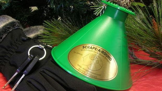 The Scrape-A-Round Windshield Ice Scraper