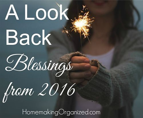 Blessings from Our Year 2016