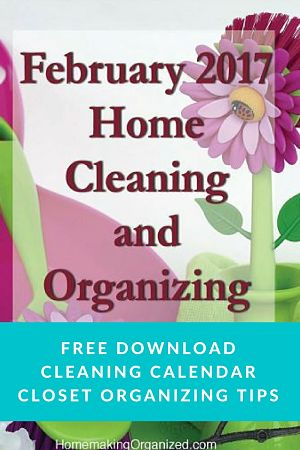 February 2017 Cleaning and Organizing Calendar Freebie