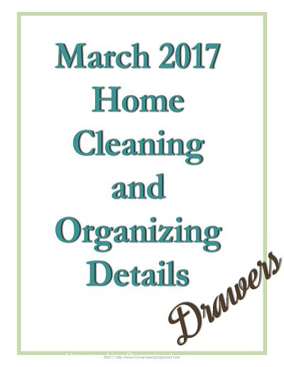 March 2017 Cleaning and Decluttering Freebie