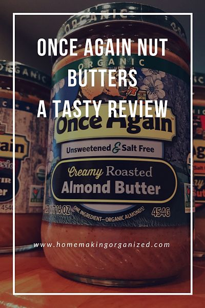 Once Again Nut Butters a Tasty Review