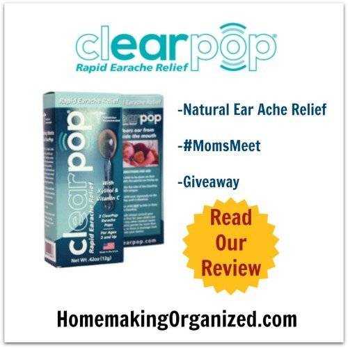 ClearPop Medicine-Free Ear Ache Relief for Children {Review} #MomsMeet