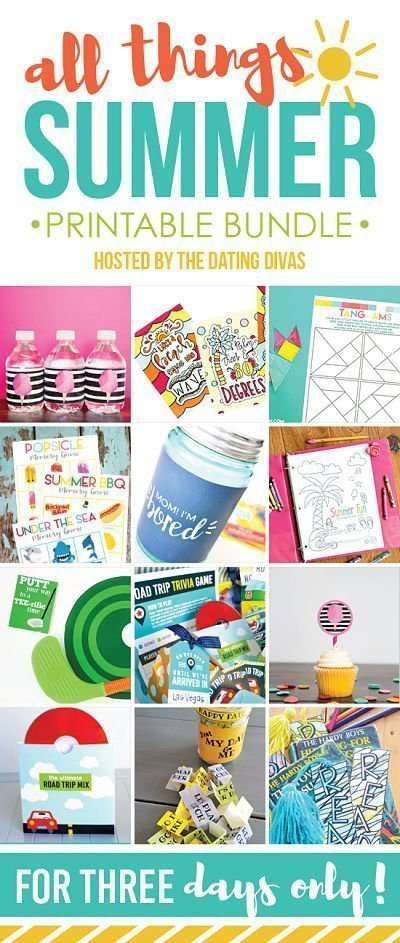 Get your All Things Summertime Fun Printable Bundle for 3 days only! April 17, 18, and 19 {Limited Time}