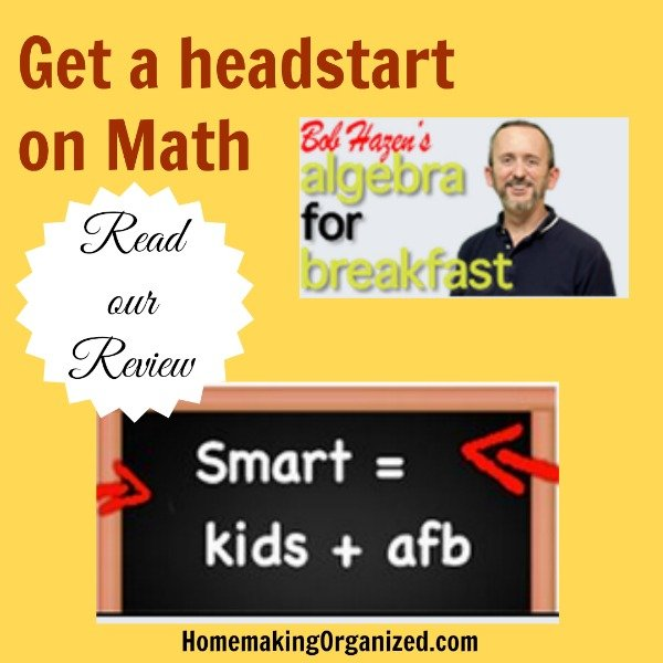 Getting a Headstart on Algebra with Algebra for Breakfast : A Homeschool Review Crew Review