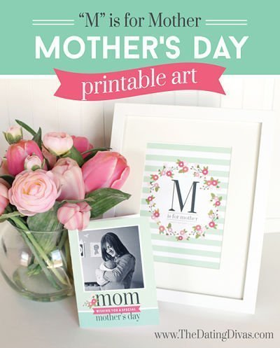 It's Not Too Late! Last Minute Mother's Day Printables Round Up