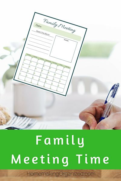 Family Meeting Time. Do You Do This?