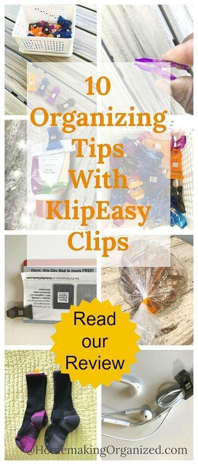 10 Home Organizing Uses for a Powerful Little Clip: a KlipEasy Clips Review