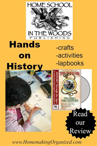 Home School in the Woods The Early 19th Century Time Traveler Series {a Homeschool Review}
