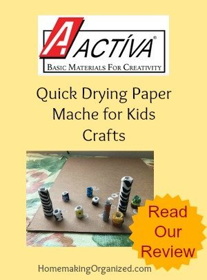 ACTÍVA Rigid Wrap and CelluClay Quick Sculpting Kit for Kids Craft Ideas {Review}