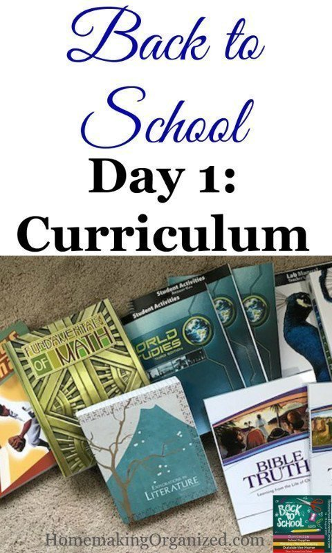 Back to School Blog Hop Day 1 : Our Homeschool Curriculum