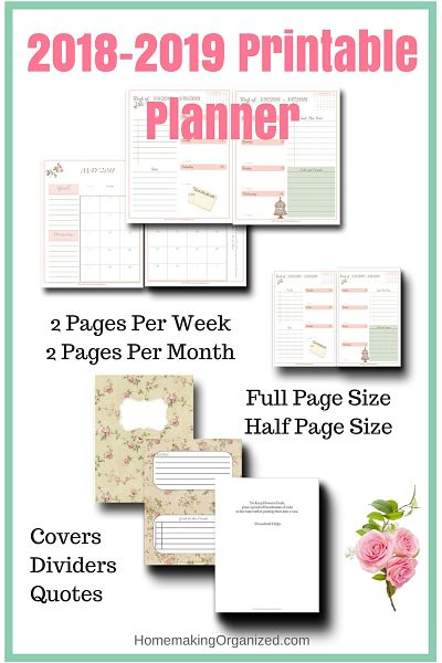 2018 Homemaker S Weekly Planner Bundle Homemaking Organized