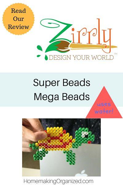 Zirrly Super Beads Mega Pack Homeschool Review - Homemaking Organized