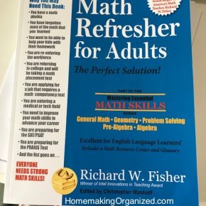 Refresh Your Math Skills! Great for Homeschool Parents {Review}
