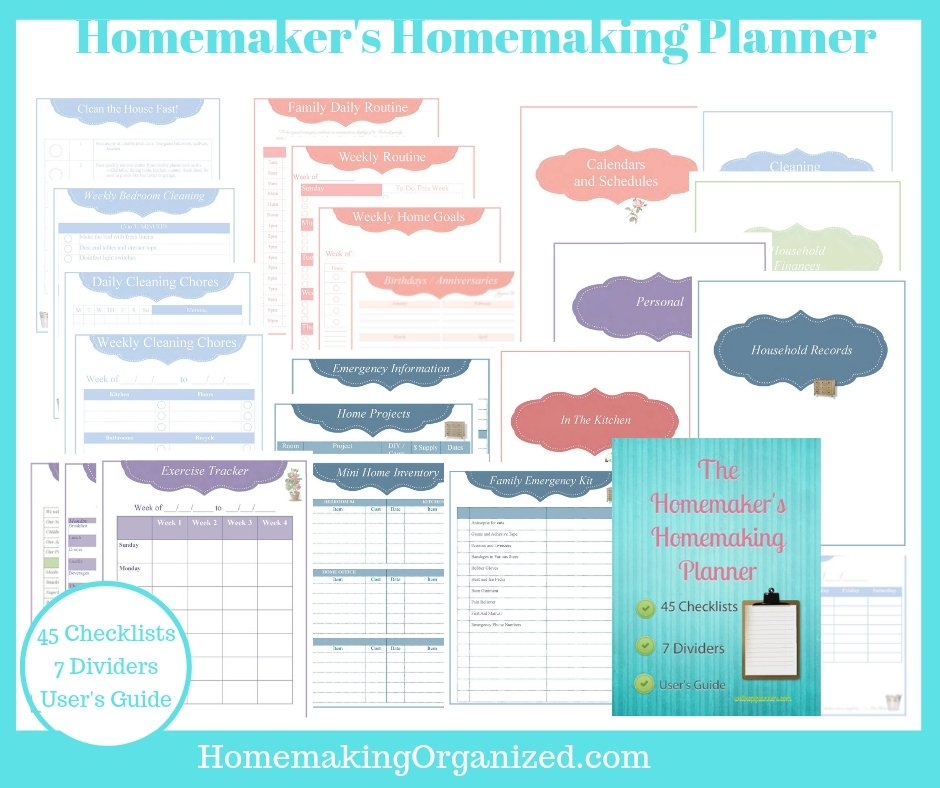 Homemaking Organized's Homemaker's Homemaking Planner.