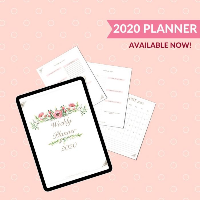 2020 Homemaker's Weekly Planner