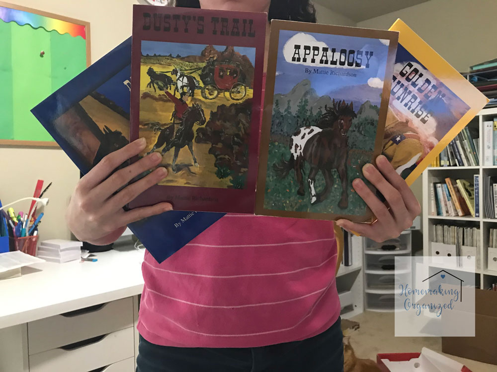 The four books in the Horses in History series by Mattie Richardson.