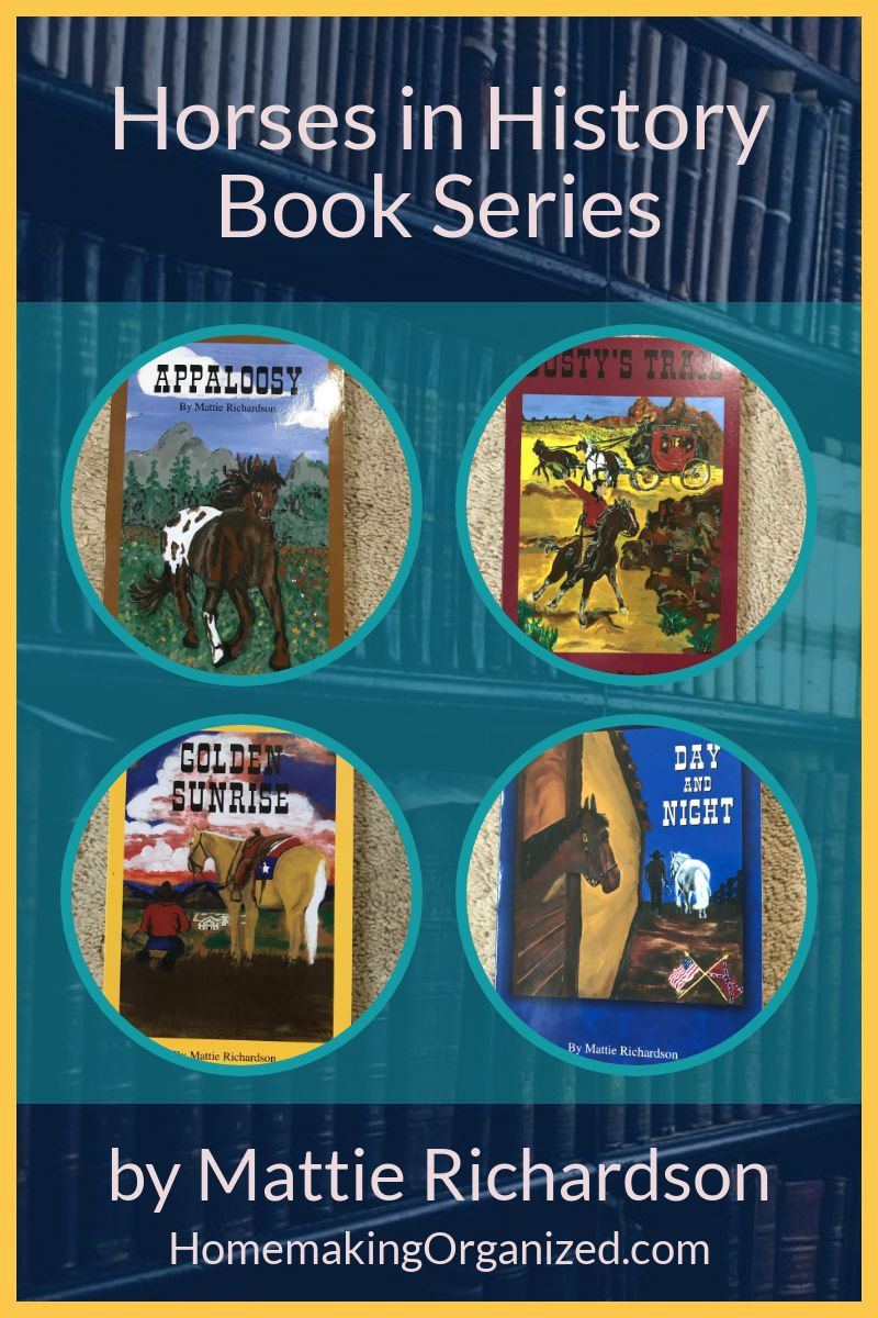 Horses in History Book Series by Mattie Richardson.