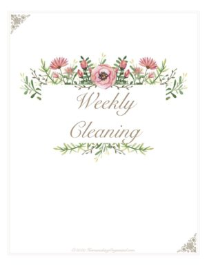 Homemaker's Planner Cleaning Divider Page